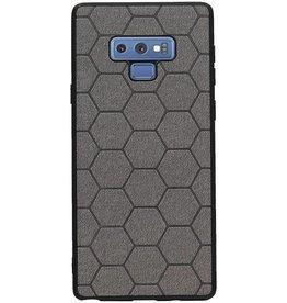 Hexagon Hard Case voor Samsung Galaxy Note 9 Grijs