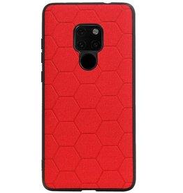Hexagon Hard Case voor Huawei Mate 20 Rood
