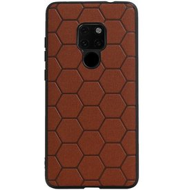 Hexagon Hard Case for Huawei Mate 20 Brown