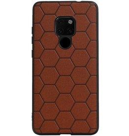 Hexagon Hard Case für Huawei Mate 20 Braun