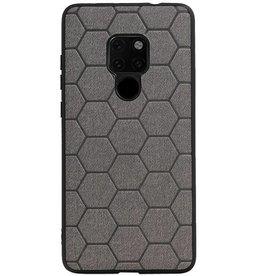 Hexagon Hard Case voor Huawei Mate 20 Grijs