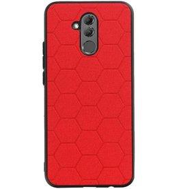 Hexagon Hard Case voor Huawei Mate 20 Lite Rood