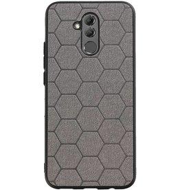 Hexagon Hard Case voor Huawei Mate 20 Lite Grijs