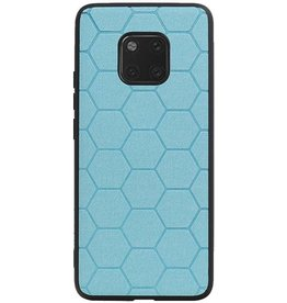 Hexagon Hard Case voor Huawei Mate 20 Pro Blauw