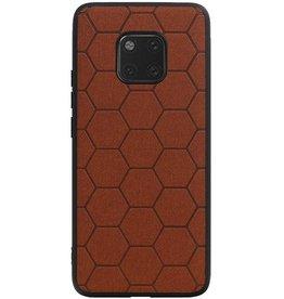 Hexagon Hard Case für Huawei Mate 20 Pro Brown