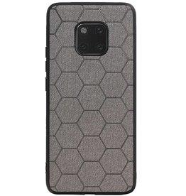Hexagon Hard Case voor Huawei Mate 20 Pro Grijs