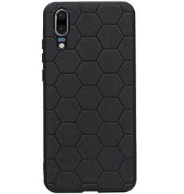 Hexagon Hard Case for Huawei P20 Black