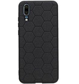 Hexagon Hard Case für Huawei P20 Schwarz