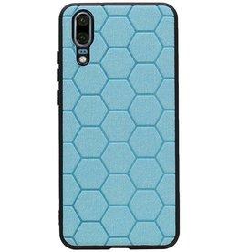 Hexagon Hard Case für Huawei P20 Blau