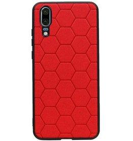 Hexagon Hard Case für Huawei P20 Rot