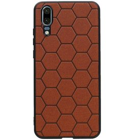 Hexagon Hard Case for Huawei P20 Brown