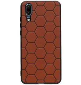 Hexagon Hard Case für Huawei P20 Braun