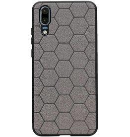 Hexagon Hard Case für Huawei P20 Grau