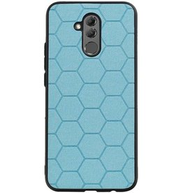 Hexagon Hard Case for Huawei P20 Lite Blue