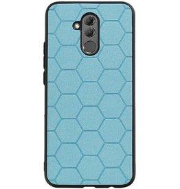 Hexagon Hard Case voor Huawei P20 Lite Blauw