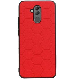 Hexagon Hard Case for Huawei P20 Lite Red
