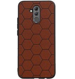 Hexagon Hard Case for Huawei P20 Lite Brown