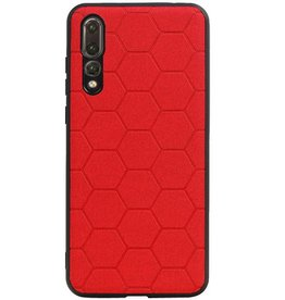 Hexagon Hard Case für Huawei P20 Pro Rot