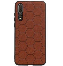 Hexagon Hard Case for Huawei P20 Pro Brown