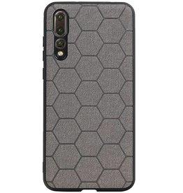 Hexagon Hard Case für Huawei P20 Pro Grau