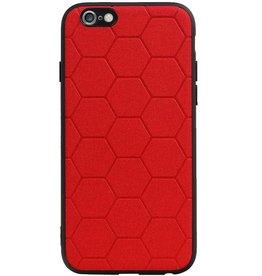 Hexagon Hard Case für iPhone 6 / 6s Rot