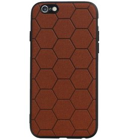 Hexagon Hard Case for iPhone 6 / 6s Brown