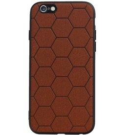 Hexagon Hard Case für iPhone 6 / 6s Braun
