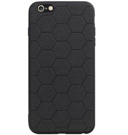 Hexagon Hard Case voor iPhone 6 Plus / 6s Plus Zwart