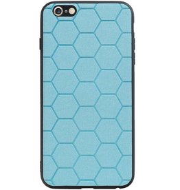 Hexagon Hard Case voor iPhone 6 Plus / 6s Plus Blauw