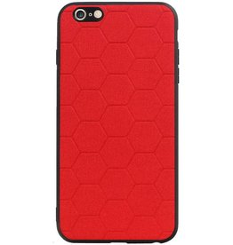 Hexagon Hard Case voor iPhone 6 Plus / 6s Plus Rood