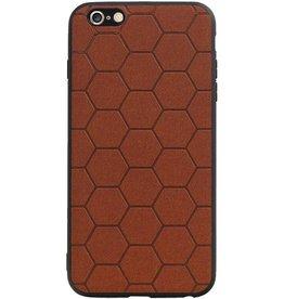 Hexagon Hard Case for iPhone 6 Plus / 6s Plus Brown