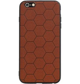 Hexagon Hard Case voor iPhone 6 Plus / 6s Plus Bruin