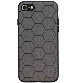 Hexagon Hard Case for iPhone 8 / iPhone 7 Gray