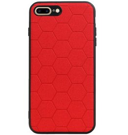 Hexagon Hard Case for iPhone 8 Plus / iPhone 7 Plus Red