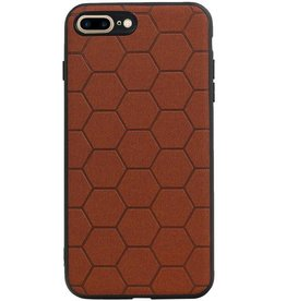 Hexagon Hard Case for iPhone 8 Plus / iPhone 7 Plus Brown