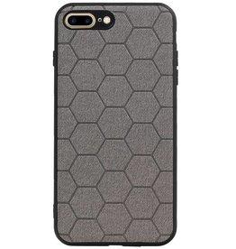 Hexagon Hard Case for iPhone 8 Plus / iPhone 7 Plus Gray