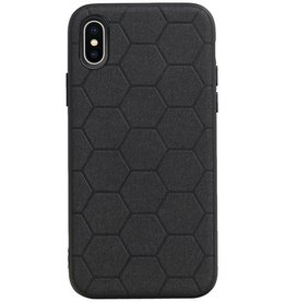 Hexagon Hard Case for iPhone X / iPhone XS Black