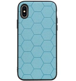 Hexagon Hard Case for iPhone X / iPhone XS Blue
