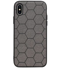Hexagon Hard Case for iPhone X / iPhone XS Gray