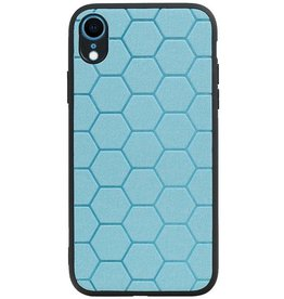 Hexagon Hard Case for iPhone XR Blue