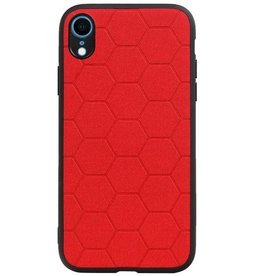 Hexagon Hard Case for iPhone XR Red