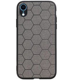 Hexagon Hard Case for iPhone XR Gray
