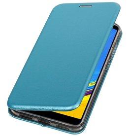Schmales Folio-Case für Samsung Galaxy A7 2018 Blau