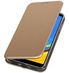 Schmales Folio-Case für Samsung Galaxy A7 2018 Gold