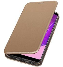 Schmales Folio-Case für Samsung Galaxy A9 2018 Gold