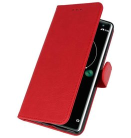 Bookstyle Wallet Cases Case for Xperia XZ3 Red
