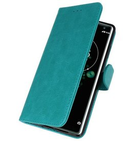 Bookstyle Wallet Cases Case for Xperia XZ3 Green