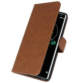 Bookstyle Wallet Cases Case for Xperia XZ3 Brown