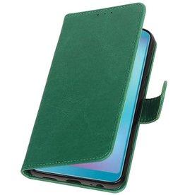 Pull Up Bookstyle für Samsung Galaxy A6s Green
