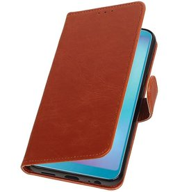 Pull Up Bookstyle for Samsung Galaxy A6s Brown